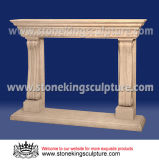 Marble Fireplace Mantel, Stone Carving Fireplace (SK-2187)