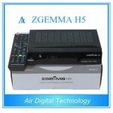 Enigma2 Linux HD Digital Combo Receiver Zgemma H5 DVB-S2+DVB-T2/C Smart TV Box Support Hevc/H. 265