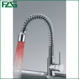Pull out Kitchen Spring Faucet Sink Mixer with LED Light