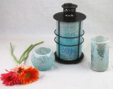 Mosaic Tealight Candle Glass Lantern