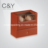 New Brown Leather Double Watch Winder