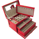 High Quality Customized PU Leather Combination Wooden Box for Jewelry
