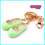 Custom Cheap Alloy Lovely Enamel Shoe Metal Keyfinder