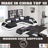 Modern European Style U Shape Leather Sofa (Lz3313)