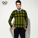 Wool Acrylic Factory Patterned Jacquard Pullover Man Sweater