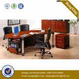 Executive Office Table Metal Legs Wooden Office Furniture (HX-FCD022)