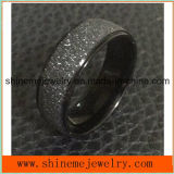 Blacek Plated Roll Sand Surface Ring Jewelry (SSR2745)