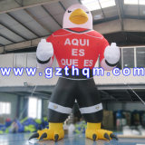 High Quality Oxford Gant Inflatable Eagle Cartoon for Advertising