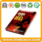 Rectangular CD Tin Box, DVD Metal Tin Case