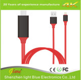 Nylon Braid Lighting to HDMI Cable for iPhone