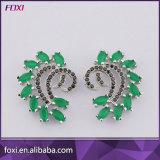 Ladies Earrings Designs Pictures Brass Zirconia Ear Jewelry Brincos