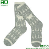 Deer Christmas Lovely Men Cotton Dress Socks