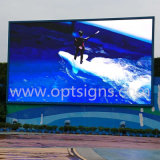 Optraffic Roadside Fixed Pole Mounted LED Light Display Advertising Board, Advertising LED Display