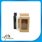 New Black/Kraft/White Paper Hanger Window Box Package Custom