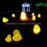 LED Christmas Ornament Duck Lights Garden Decoration