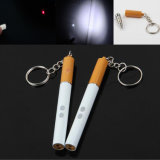 Cigarette 3 in 1 LED Flashlight Kechain Red Laser Pointer