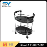 Restaurant Two Tiers Stainless Steel Tea Trolley