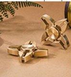 Four Corners Brass Fingertip Gyro Fidget Spinner
