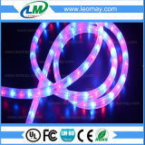 IP65 High Voltage Christmas 3 cooper wire vertical LED Rope Light