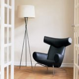 Modern Leisure American Country Ox Chair with High Back