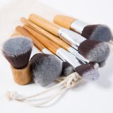 11PCS Professional Makeup Brush Set with Bamboo Handle