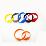 Un-Adjustable Silicone Bracelet Smart Wristband with RFID Chip