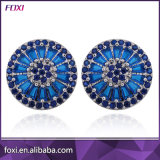 Brazil Hot Selling Pizza Earrings Micro Setting CZ Zirconia Semi Jewelry