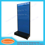 Retail Store Tools Display Hardware Shelf Rack with Perforated Metal Panels