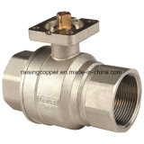 Brass Bal Valve for Actuator with Mounting Pad