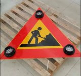 Road Working Warning Solar LED Triangle Traffic Signs