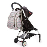 Canvas Mummy Bag Diaper Backpack with Stroller Hooks and Changing Pad