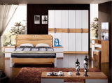 Modern New Design Living Room Wooden Double Bed (HX-LS018)