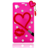 Heart and Lip Pattern Silicone OEM Phone Case