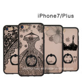 iPhone7 Embossed Lace Pattern iPhone7 Case, iPhone 6s All-Inclusive Anti-Drop Protective TPU Phone Case with Ring Buckle