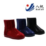 Ladies Fashion Snow Boots with Sequins on Upper Bf1610223