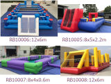 Commercial Inflatable Soccer Field Inlatable Football Field, Snooker Ball Football Field