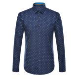 2017 Spring Men Printed Shirt Cotton Formal Dress Shirt
