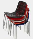 Cheap Public Plastic Stack News Chair, Restaurant Dining Chair (LL-0068)
