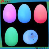 Colorful Wax Christmas Decoration Egg Shape Candle Light