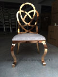 Hot Sale Metal Golden Dining Furniture with Heart Shape