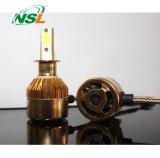 H13 C6 LED Headlight Auto Parts Gold COB Chip Double