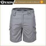 Gray Multi-Pockets Hunting Mens Breathable Quick Drying Tactical Short Pants