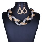 Fashion Bohemian Braided Rope Chokers Statement Necklace Set Jewelry