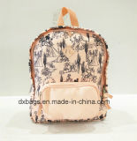 Fashion Style Canvas Backpack for Kids, Leisure Bag for Gril