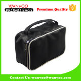 Black Custom PU Makeup Bag Strorage Pouch for Men and Lady Women