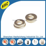 Knurled Round Body Color Gold Plated Rivet Nuts