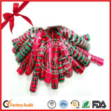 Wholesale Printed Christmas Decoration Ribbon Curly Bows