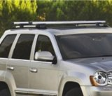 "53"" Universal Car Wagon Aluminum Roof Top Rail Rack Cross Bars Luggage Carrier"