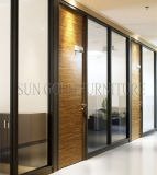 Luxury Black Frame Types Glass Hotel Office Room Dividers (SZ-WS572)