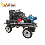 Hot Sale Mobile Double Suction Diesel Water Pump Set with 90kw Weichai Diesel Engine
